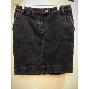 ANN TAYLOR LOFT blue jean skirt